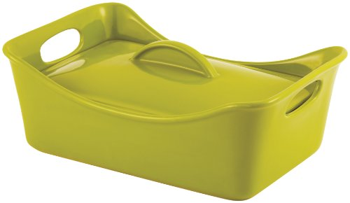 Rachael Ray Stoneware 3-1/2-Quart Covered Rectangle Lasagna Casserole